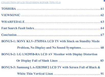 V5 0-OLED-LED-LCD TV Repair Tips - V2 0