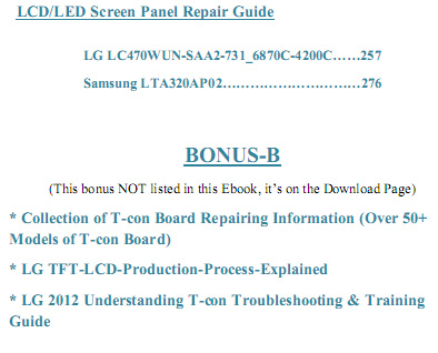 holiday offer page lcd led screen panel repair guide lcd led tv repair guide lcd led tv repair guide pdf