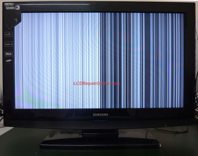 samsung la-32b350 vertical lines or bars