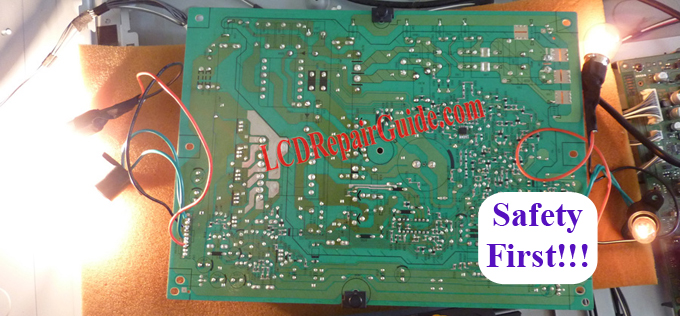 How to connect power supply PSU board self test