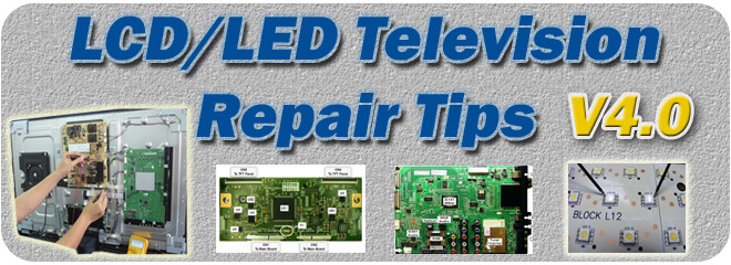 V4.0 LED LCD TV Repair Tips ebook header